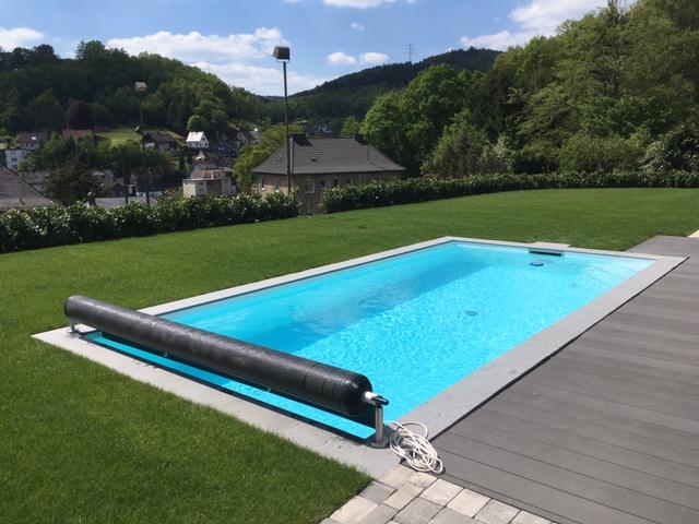 Styropool, Außenbecken, Rollabdeckung, SBB Schwimmbadbau Biggetal GmbH
